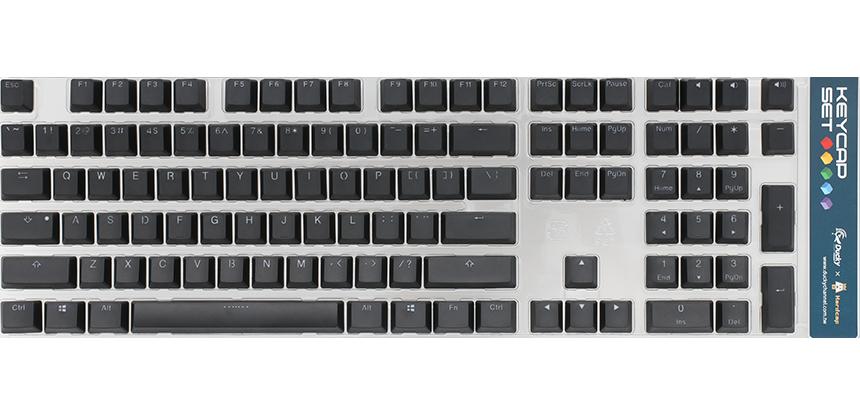 Black backlit keycap