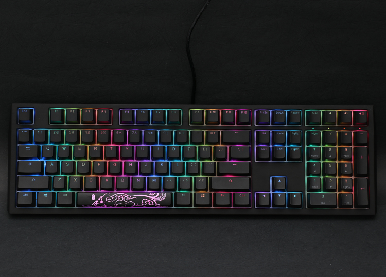 With fully customizable hardware<br /> Also supports Ducky RGB software