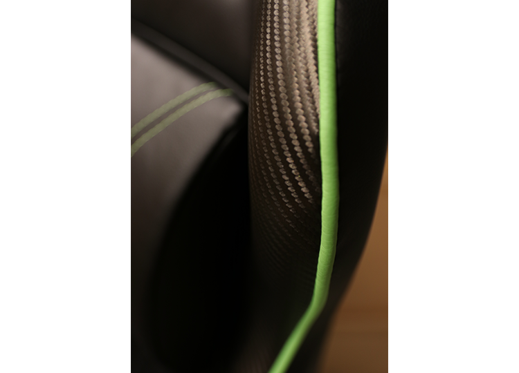 High-quality carbon-fiber similar design with premium stitches