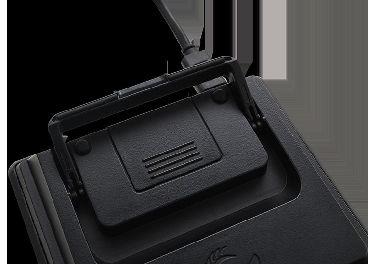 Micro USB 接線分離設計<br /> 兩段式高度調整腳架