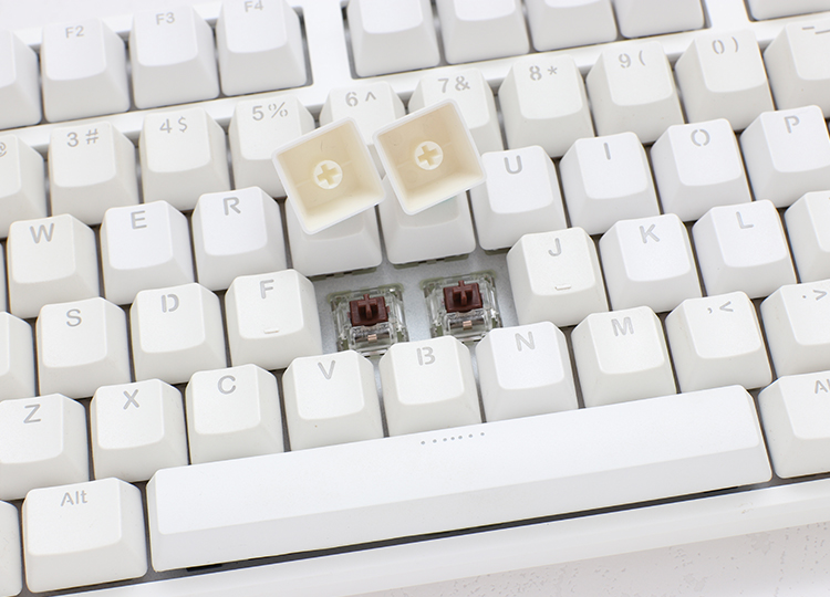 PBT double-shot keycaps <br /> German Cherry MX key switches