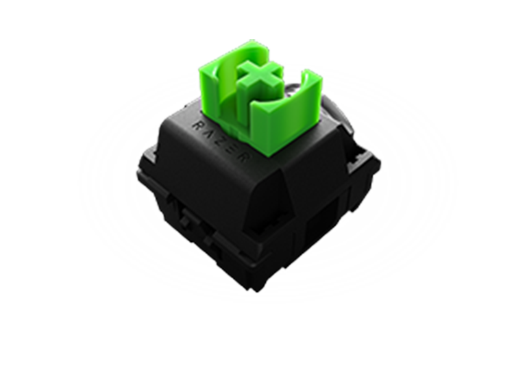 The classic<br /> For those who want to feel and hear every keypress, the Razer™ Green Mechanical Switch features a tactile bump and distinctive click sound along with optimized actuation and reset point
