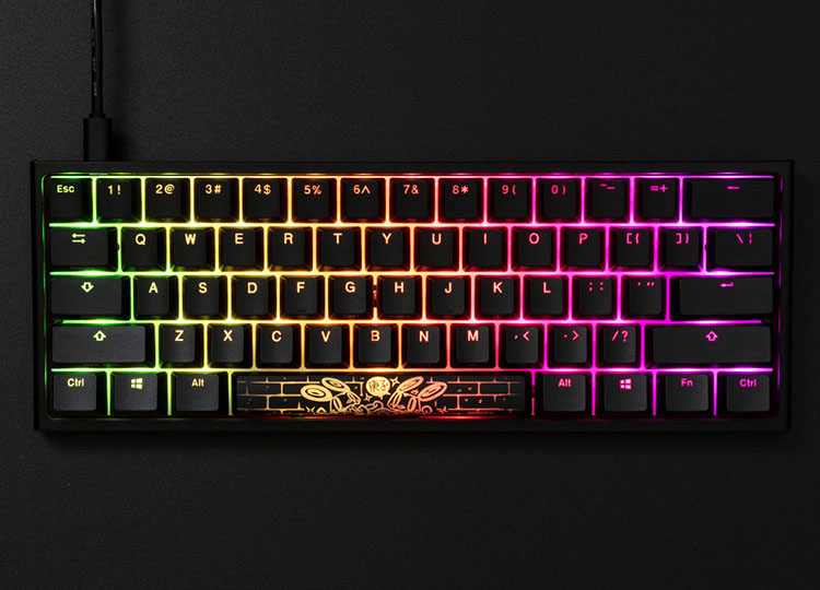 Personalize your keyboard with effects built into the keyboard. Change brightness, speed, and color and make your keyboard shine with your very own style.
