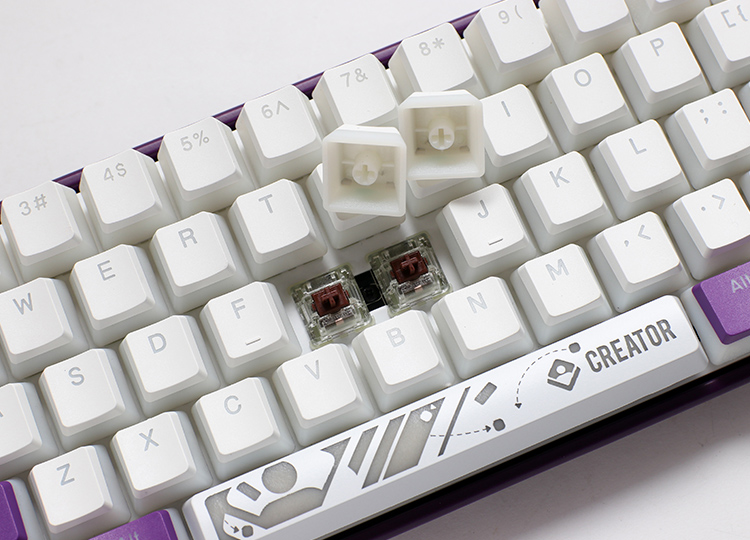 PBT double-shot seamless pudding keycaps <br />