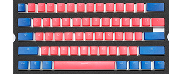 Dual color pudding keycap