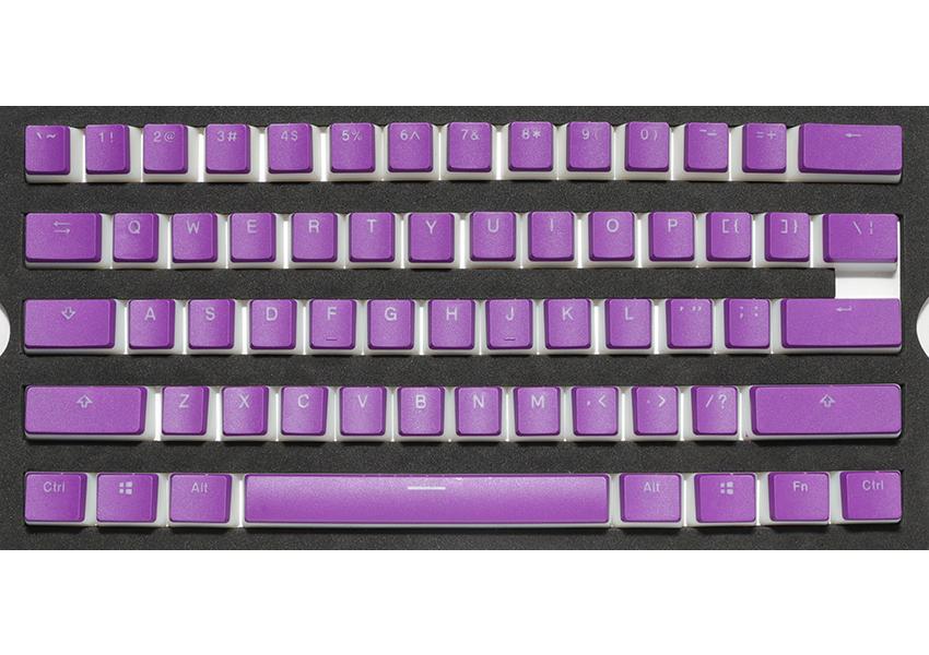 紫色布丁鍵帽