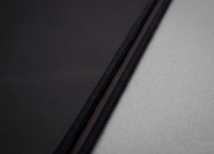 Threads are tightly woven and are secured to the edge of the fabric to prevent fraying.